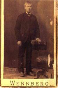Grandpa Olson in 1893, around the time of his immigration.
